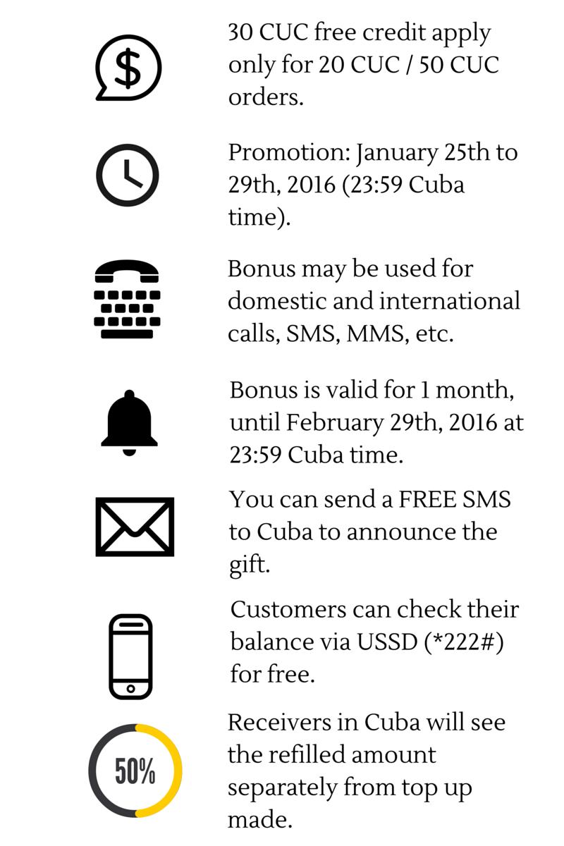 FREE Cubacel credit