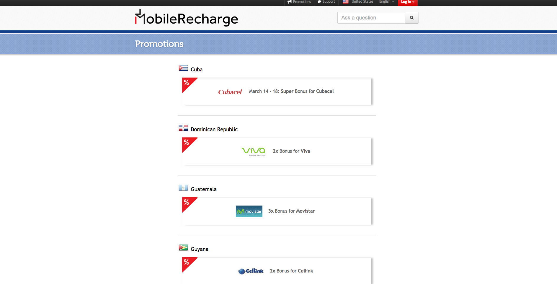 recharge online