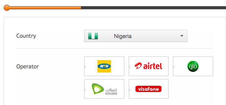 top up a mobile in Nigeria