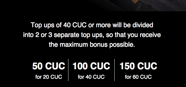 Cubacel promotion