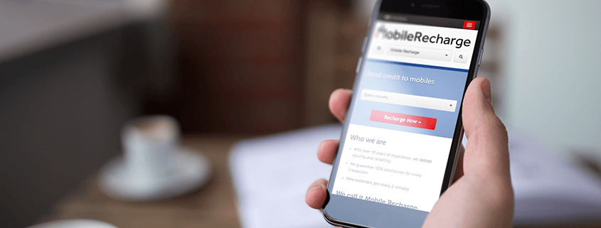 How to load a mobile phone using MobileRecharge top up app