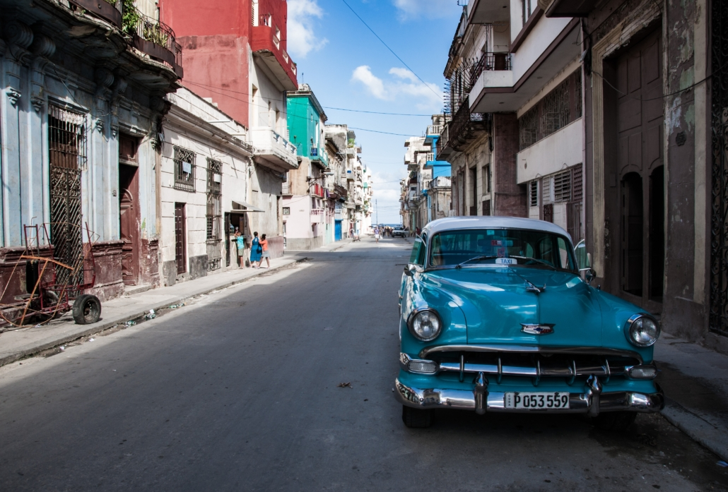 Cuban car in the street