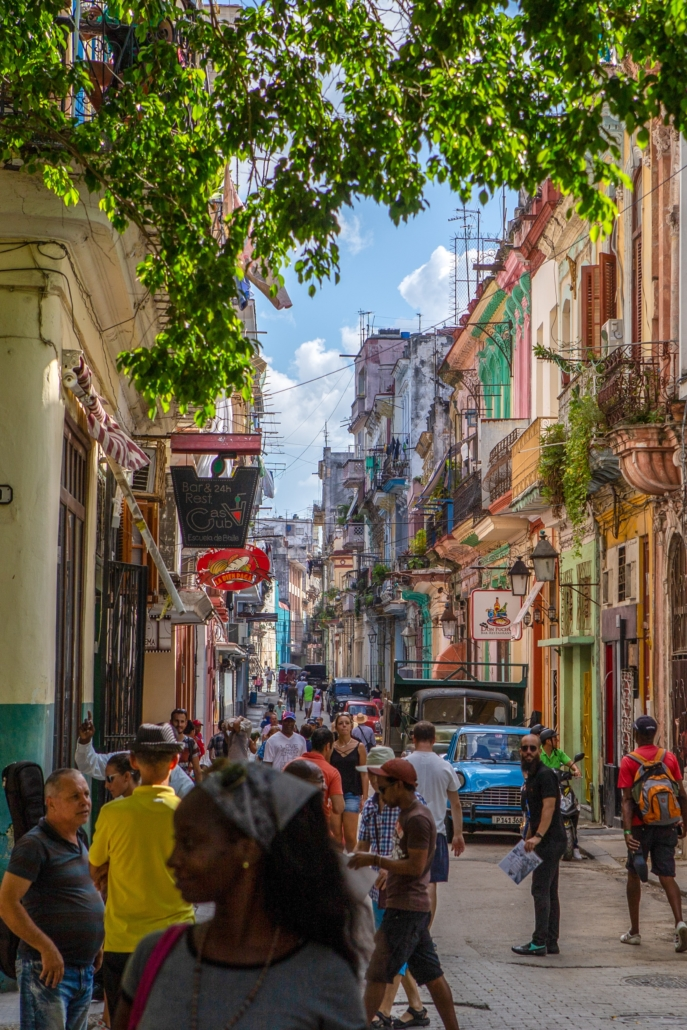 Cuba streets, full of tourists and locals