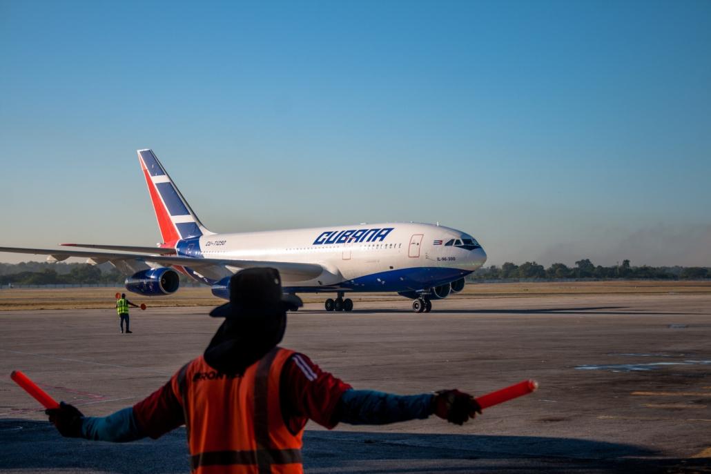 Cuba airport Cubana
