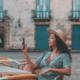 woman in Havana using 3G in Cuba