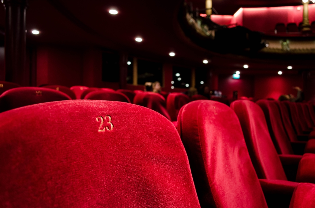 seats in a cinema or theatre