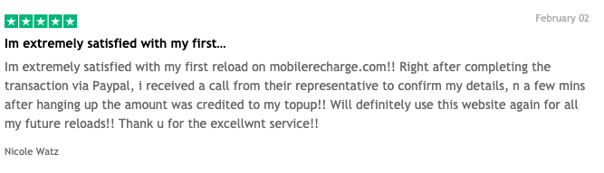review about MobileRecharge.com