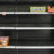 empty shelves during Coronavirus pandemic