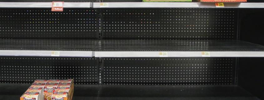empty shelves during Coronavirus pandemic
