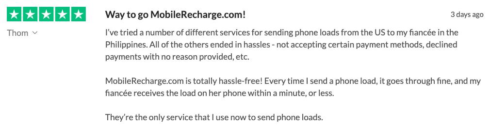MobileRecharge.com REVIEWS