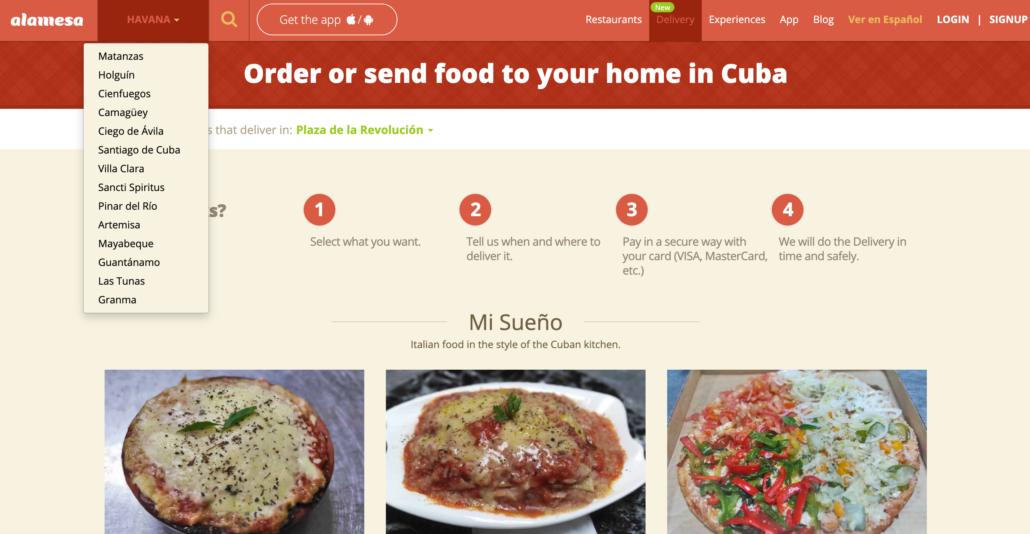 food delivery cuba