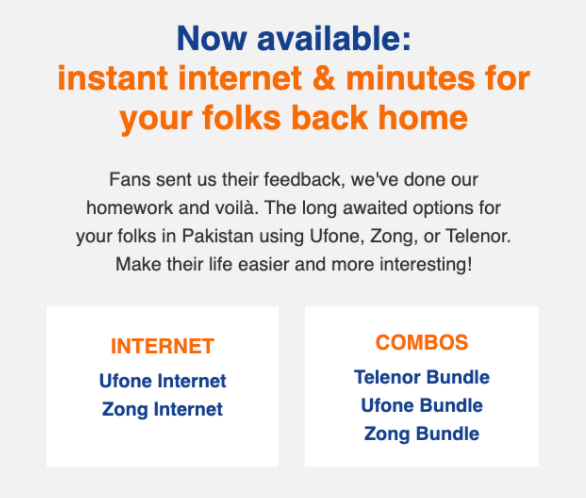 Send balance to Pakistan mobiles from abroad