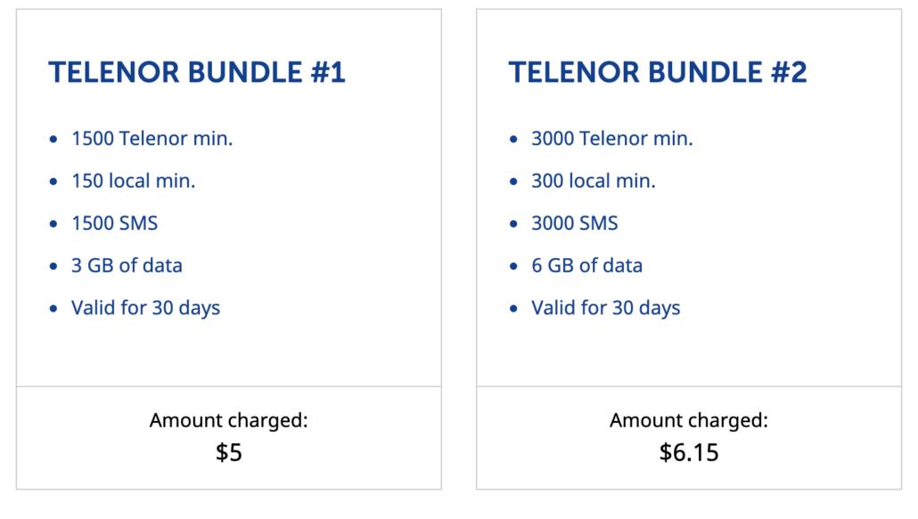 online Telenor data balance
