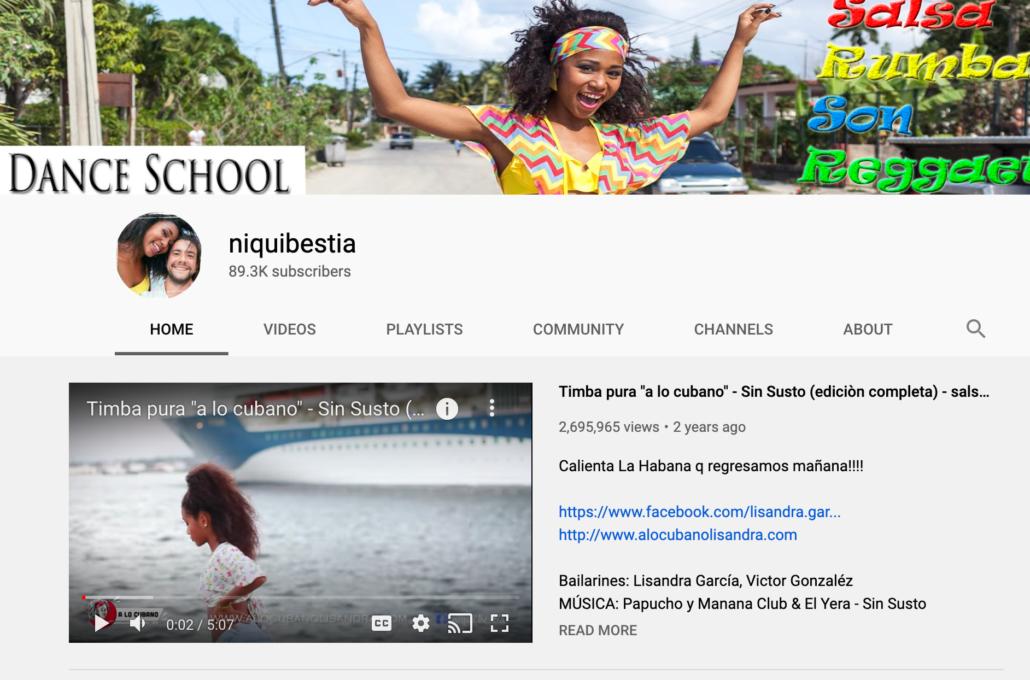 YouTube channel in Cuba