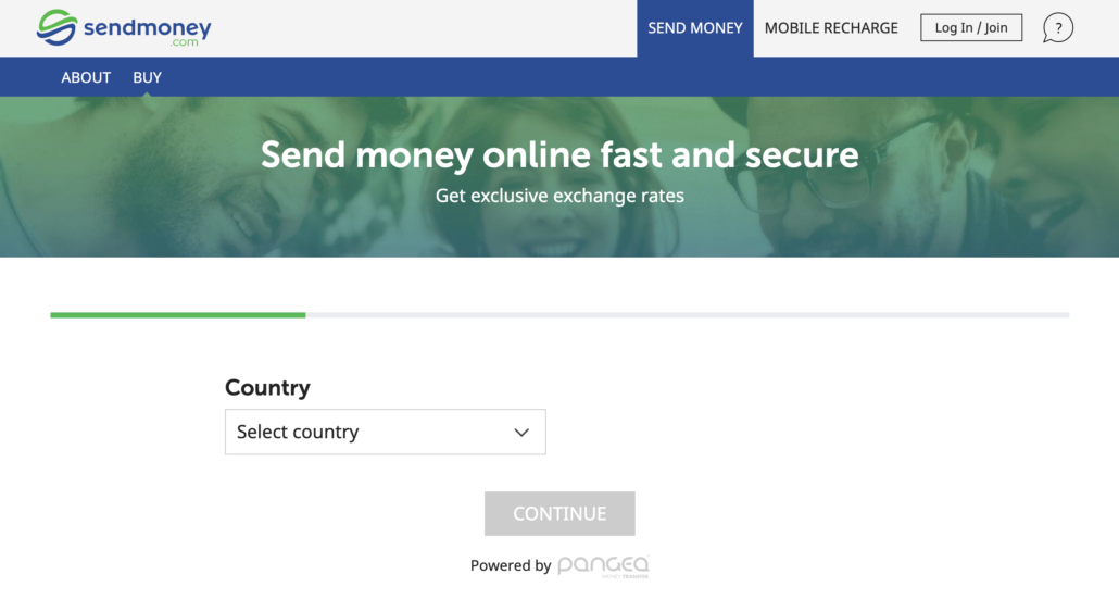 SendMoney.com to send money online in a secure way