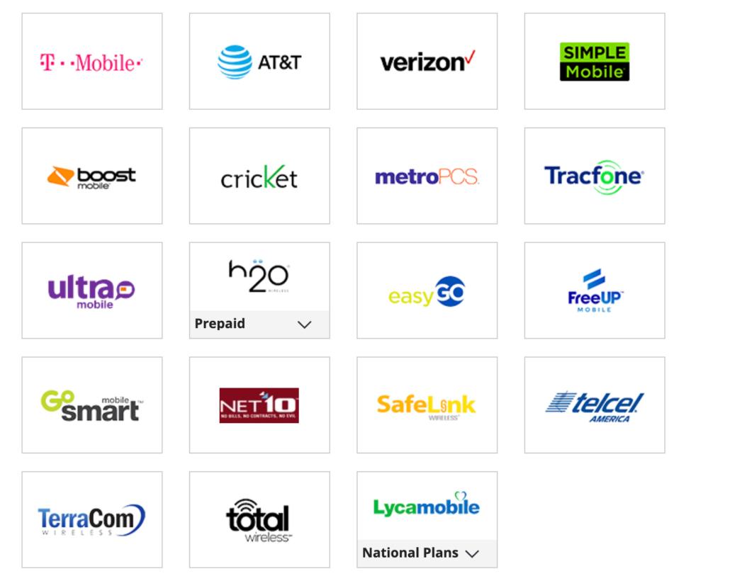 operators for top up USA on MobileRecharge.com