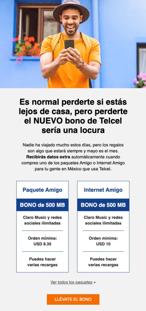 instant top ups Telcel Mexico
